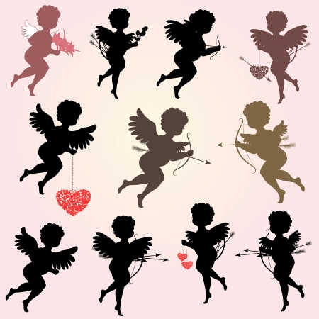 Angels with arrows for your design Vector