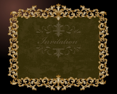 Vintage gold frame Stock Vector - 17336135