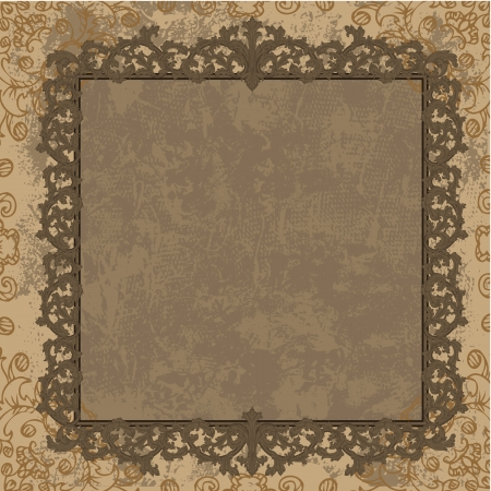 Vintage frame in the Baroque style Stock Vector - 17336137