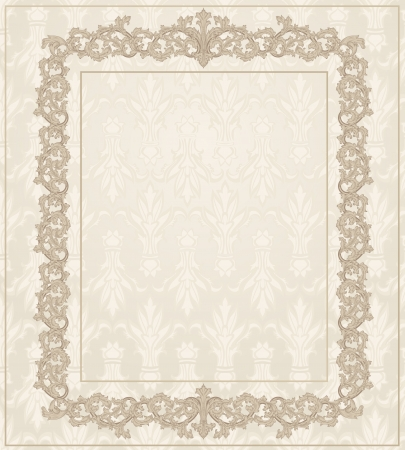Classic Vintage frame floral ornament Stock Vector - 17336136