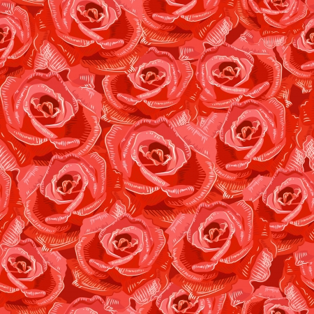 Texture seamless of roses Vector