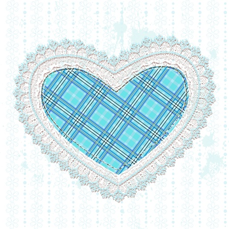 heart of the Scottish cell openwork Stock Vector - 17550955