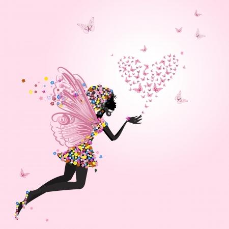 donna farfalla: Fata con un San Valentino di farfalle