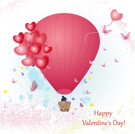 Valentine's Day with a balloon for your design Stock Vector - 17550925