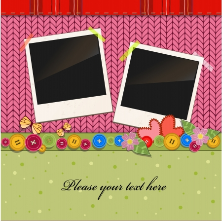 Scrap holiday vintage set of photo frames Vector
