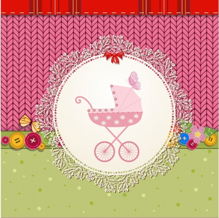 baby carriage: Scrapbooking with pram