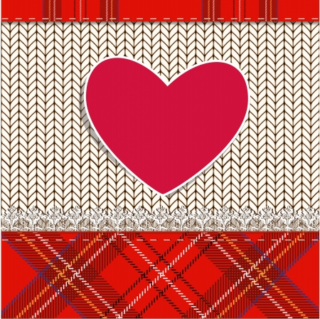 knitted fabric for Valentine Stock Vector - 17989485