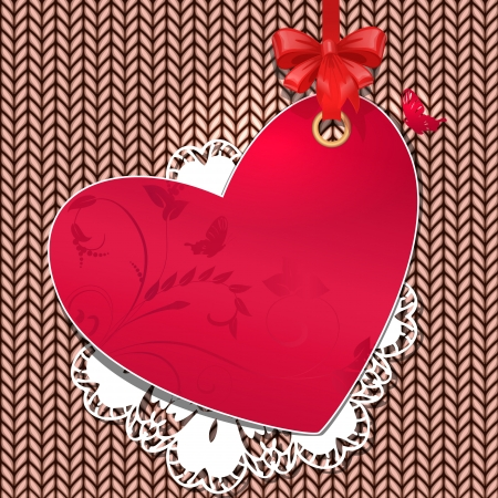 knitted fabric for Valentine Vector