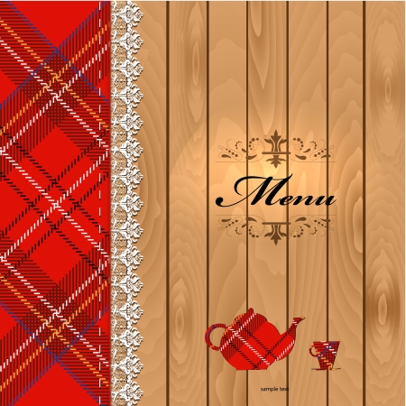 Cloth on wood texture for your design Vector