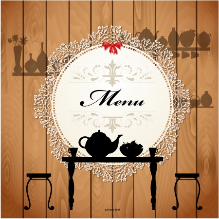 dining tables: Menu card design for a cute cafe