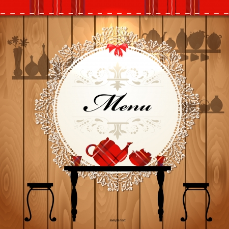 lunch room: Menu card design for a cute cafe