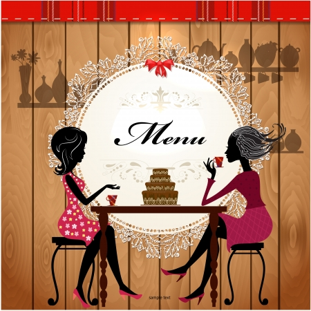 Menu card design for a cute cafe Stock Vector - 17989466