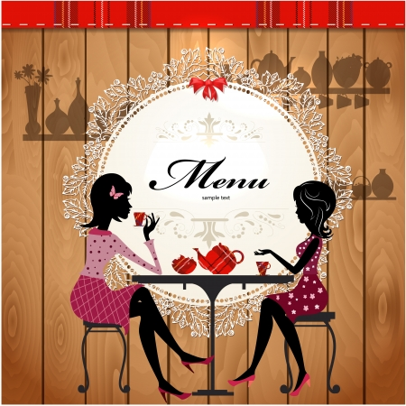 Menu card design for a cute cafe Stock Vector - 17989467