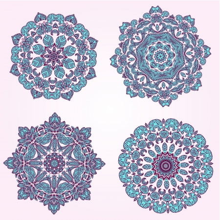 arabesque antique: Set beautiful arabesques Illustration