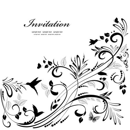 ornamento floral para su diseño Ilustración de vector