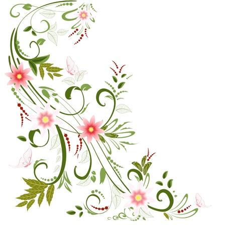 floral border: floral ornament  for your design