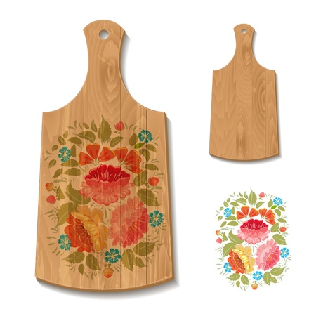 food preparation: Decorated cutting board