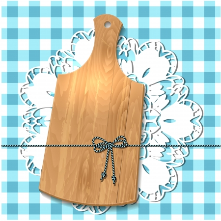 chopping: Gift of cutting board on the tablecloth