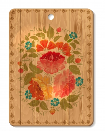 Decorated cutting board Stock Vector - 18238862
