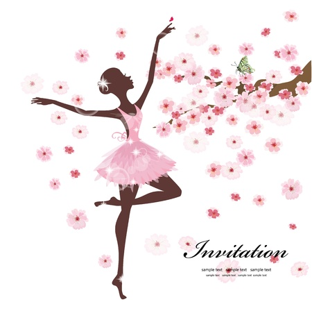 ballerina fairy: Beautiful ballerina in the flowers