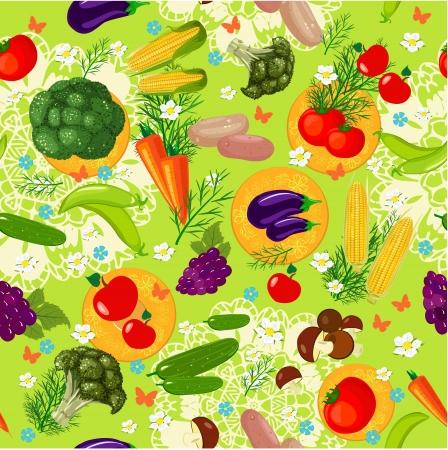 corn flower: Vegetable seamless texture
