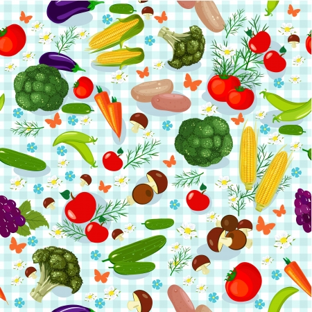 Vegetable seamless texture Vector