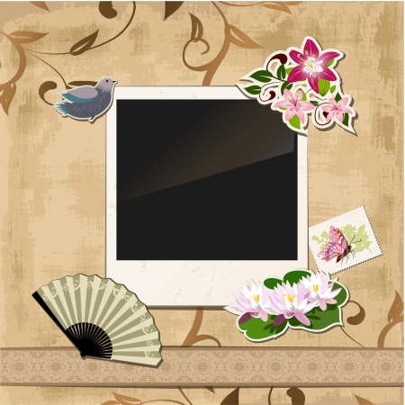 Scrapbook template  photo