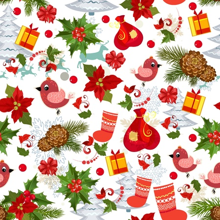 Merry Christmas texture seamless Vector