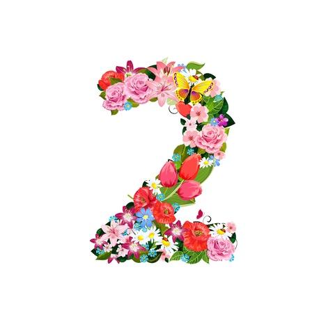 Numero romantica di bellissimi fiori 2
