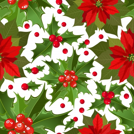 flower Christmas texture seamless Vector