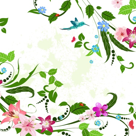 floral abstract: Vintage floral pattern