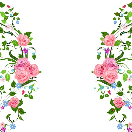 cute border: Vintage motivo floreale