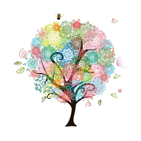mandala: Abstract decorative tree