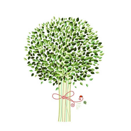 Isolated tree for your design Vector