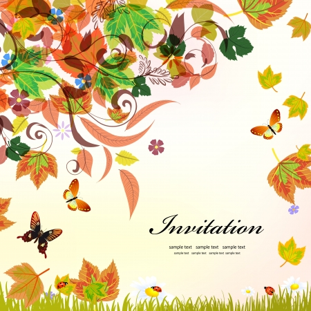 Autumn background for your design