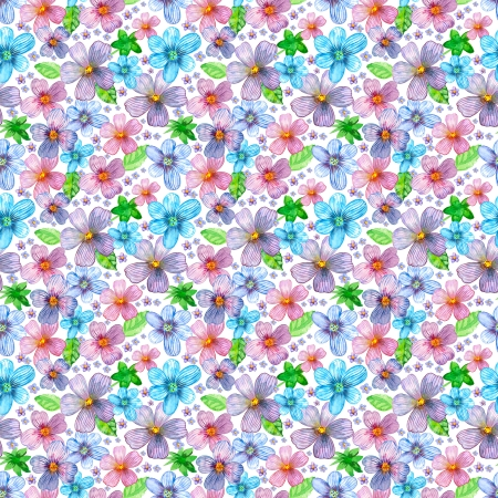 Flower seamless texture watercolor 스톡 콘텐츠