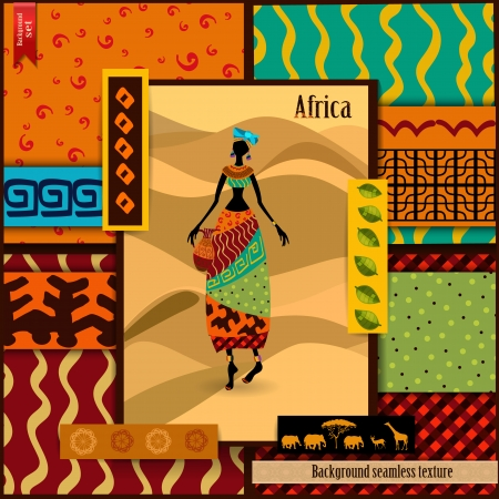 primitives: African girl dressed in a decorative