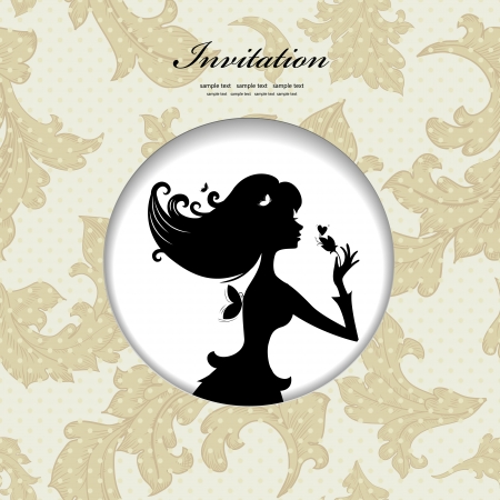 Silhouette of a beautiful girl for your design Vector