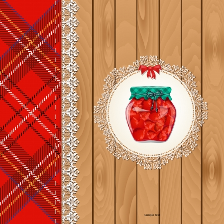 greeting card with wholesome food for your design Vector
