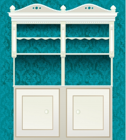 retro vintage sideboard Vector