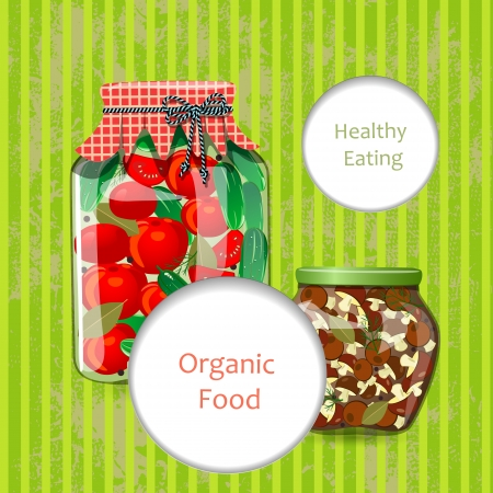 wholesome: greeting card with wholesome food for your design