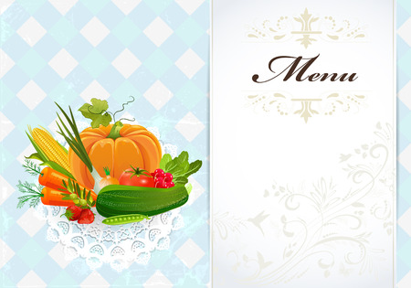 healthy food recipe card Vector