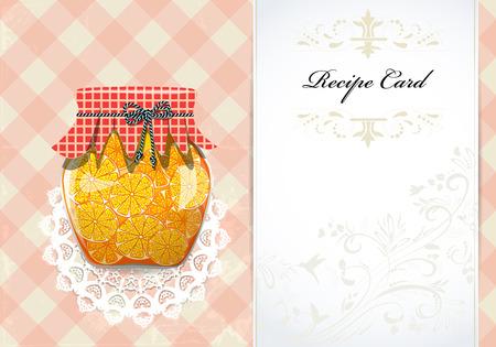Sain carte de recette de nourriture Banque d'images - 24348183