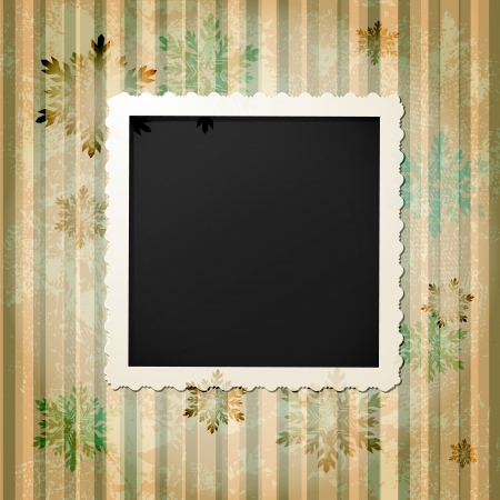 Retro vintage photo frame Vector