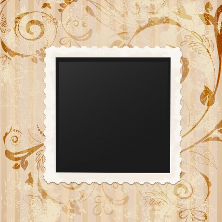 photo album cover: Retro vintage photo frame