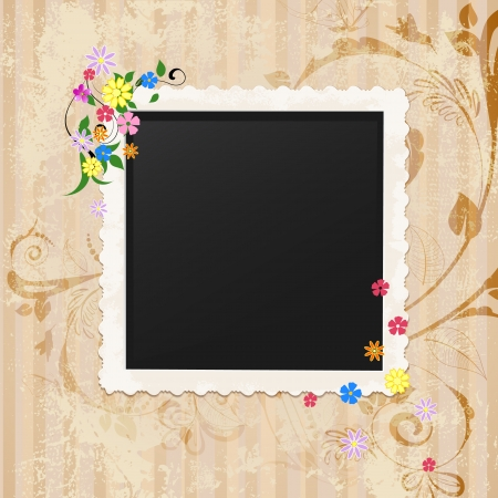 album photo: Retro vintage photo frame