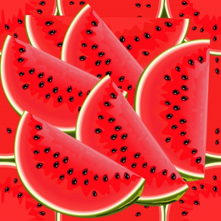 Seamless texture of juicy watermelon Stock Vector - 24348219