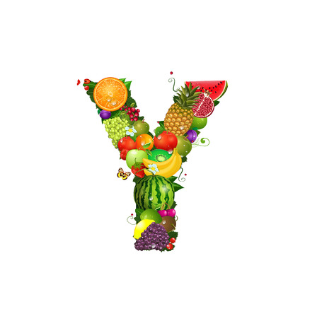 Letter of juicy fruit Y Stock Vector - 24640933