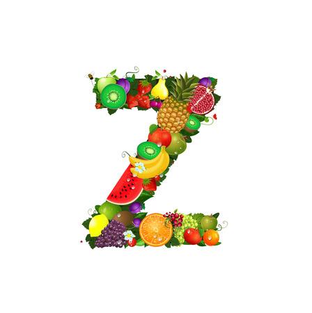 Letter of juicy fruit Z