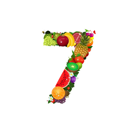 number 7: Number of fruit 7